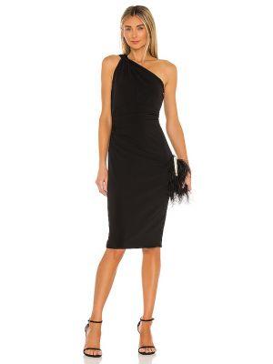 Czarna sukienka na wesele z falbanami Katie May