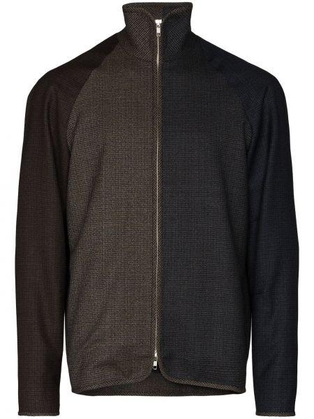 Коричневая куртка с рукавом реглан на молнии с воротником Lou Dalton
