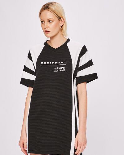 Платье мини свободного кроя с вырезом Adidas Originals