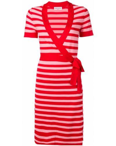 Платье мини с декольте - красное Sonia Rykiel
