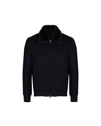 Кашемировая синяя куртка Enrico Mandelli
