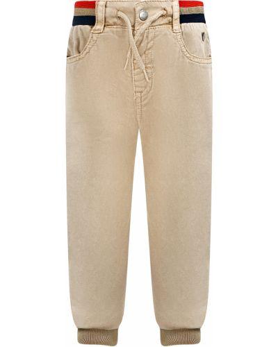 Хлопковые бежевые брюки Mayoral