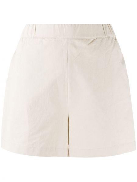 Однобортные хлопковые шорты с карманами Folk