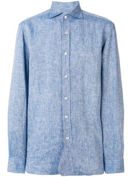 Классическая льняная классическая рубашка на пуговицах Doppiaa
