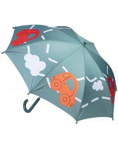 Серый брендовый зонт котофей