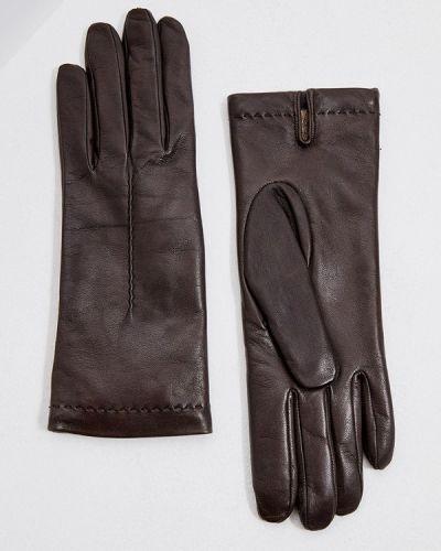 Коричневые кожаные перчатки Falconeri