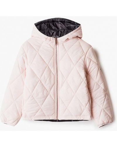 Утепленная розовая куртка Guess