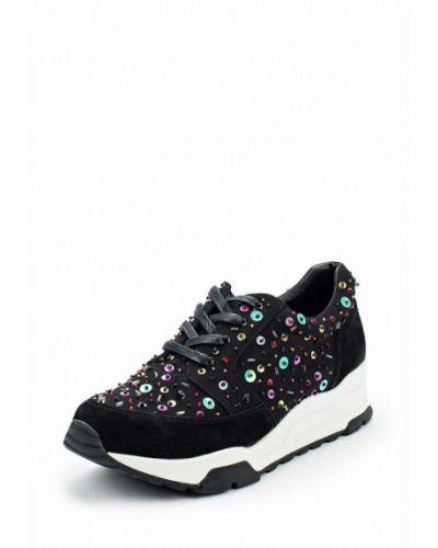 Черные кроссовки замшевые Just Couture