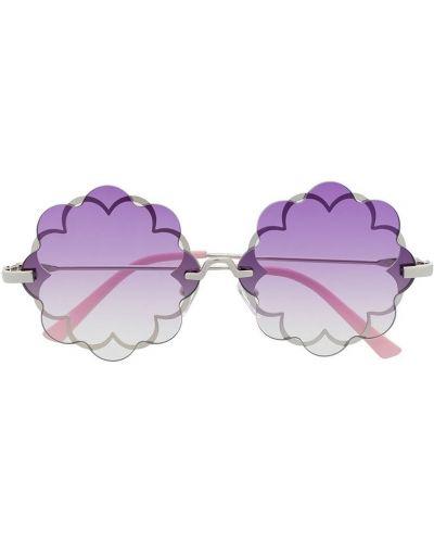 Прямые фиолетовые солнцезащитные очки круглые Monnalisa