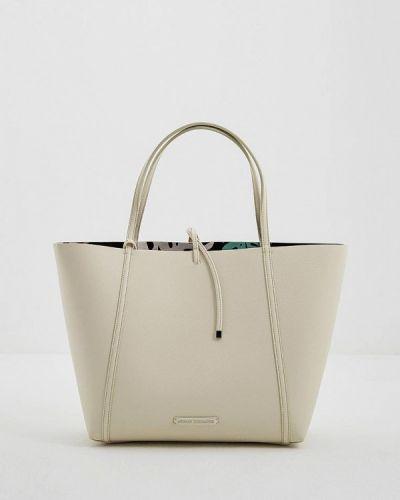 Белая сумка шоппер Armani Exchange