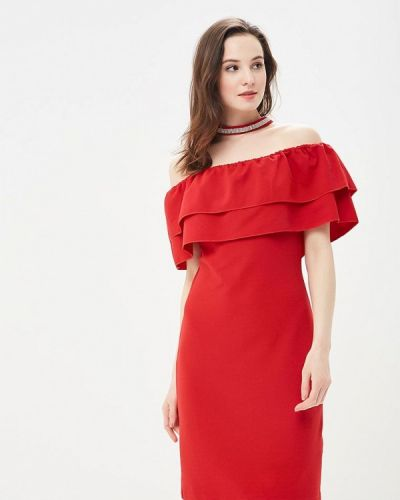 Красное платье прямое Incity