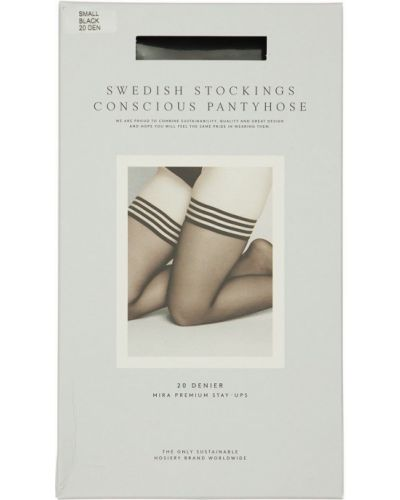 Pończochy - czarne Swedish Stockings