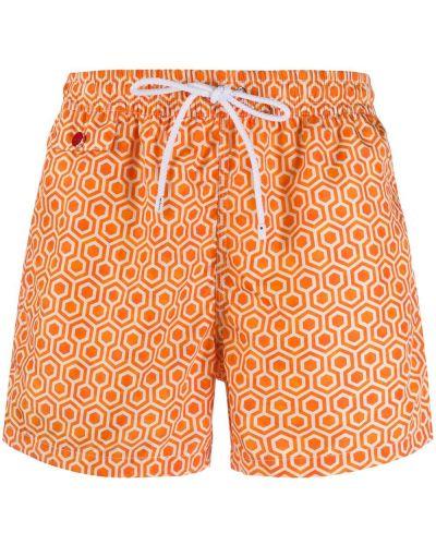 Оранжевые плавки-боксеры Kiton