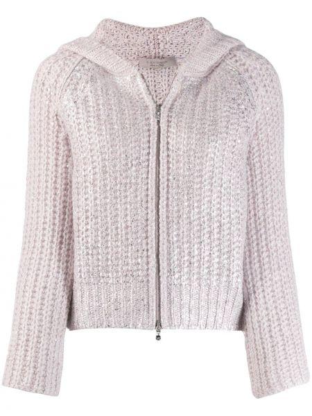 Прямая розовая куртка с капюшоном D.exterior