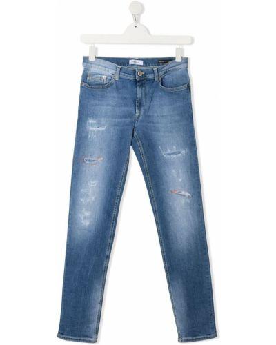 Облегающие синие джинсы-скинни на молнии Dondup Kids