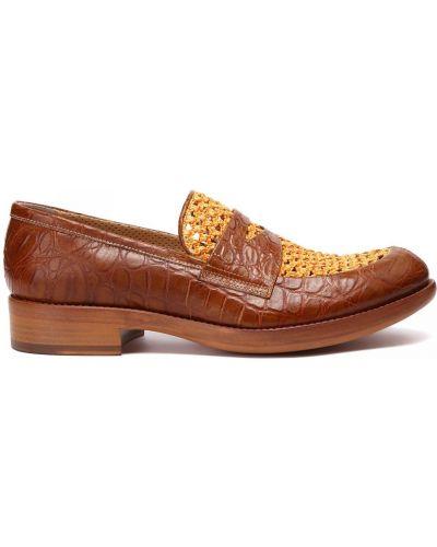 Коричневые кожаные туфли закрытые Rocco P.