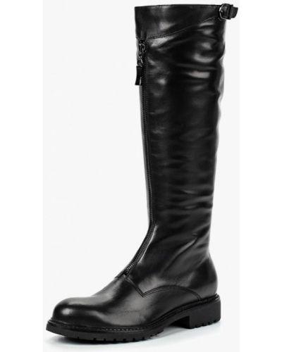 Кожаные сапоги осенние черные Dolce Vita