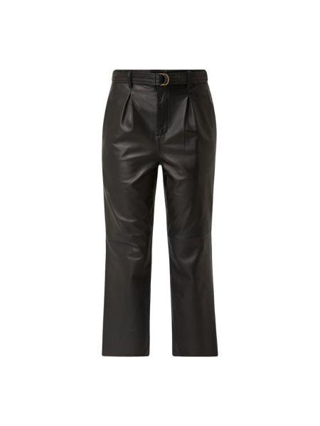 Czarne spodnie skorzane Goosecraft