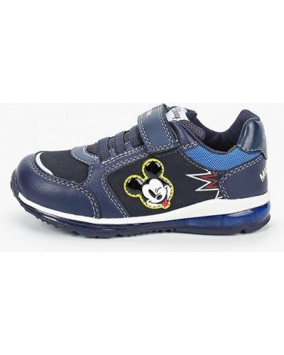 Синие кожаные кроссовки Geox