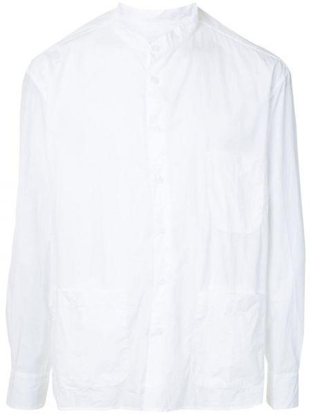 Прямая рубашка с воротником с разрезами по бокам на пуговицах Bergfabel