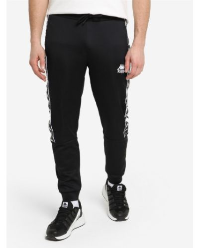 Черные спортивные брюки с поясом свободного кроя Kappa