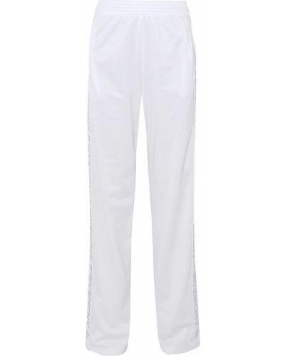 Białe spodnie w paski Givenchy