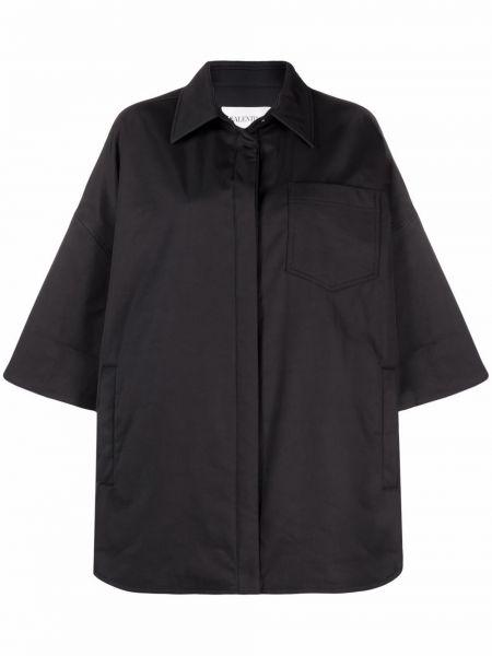 Черная рубашка короткая Valentino