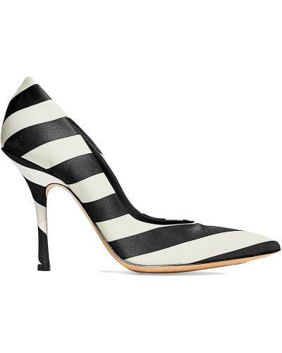 Черные кожаные туфли-лодочки на каблуке Dries Van Noten