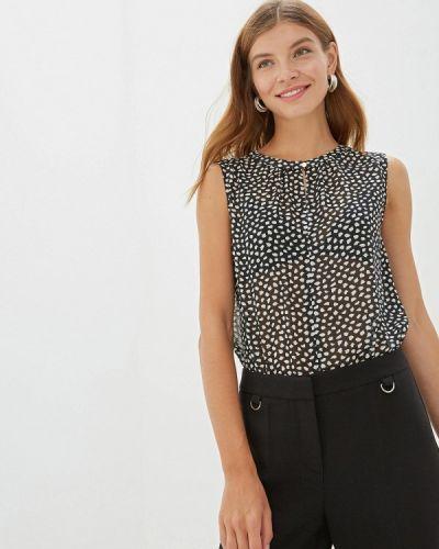 Блузка без рукавов весенний черная Vittoria Vicci