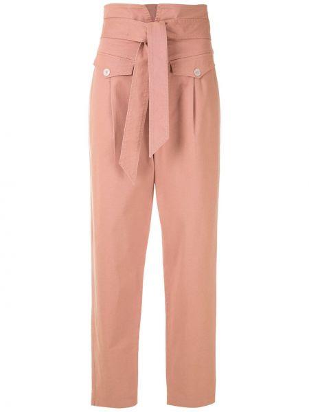 Różowy bawełna spodni spodnie z kieszeniami Nk