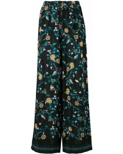 Свободные брюки пижамные в цветочный принт Max Mara Studio