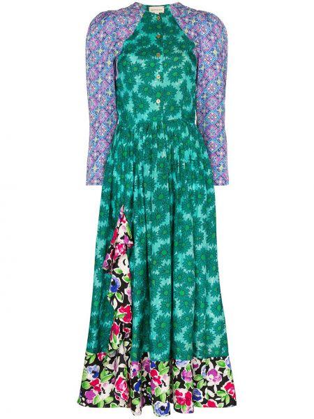 Платье миди на пуговицах с цветочным принтом Rentrayage