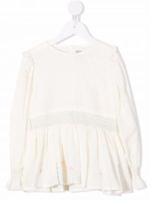Bluzka rozkloszowana - biała Il Gufo
