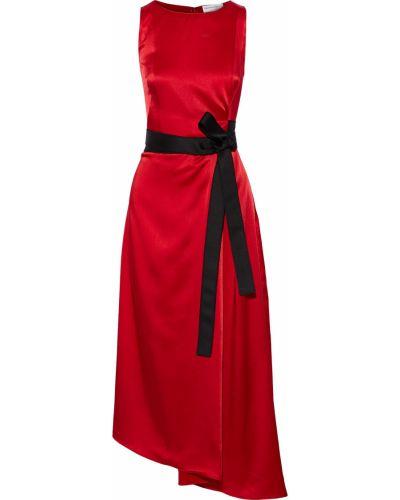 Асимметричное платье миди на крючках с карманами Amanda Wakeley