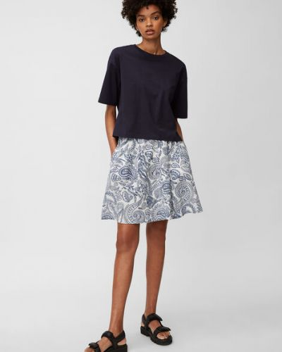 Spódnica mini bawełniana z printem Marc O Polo