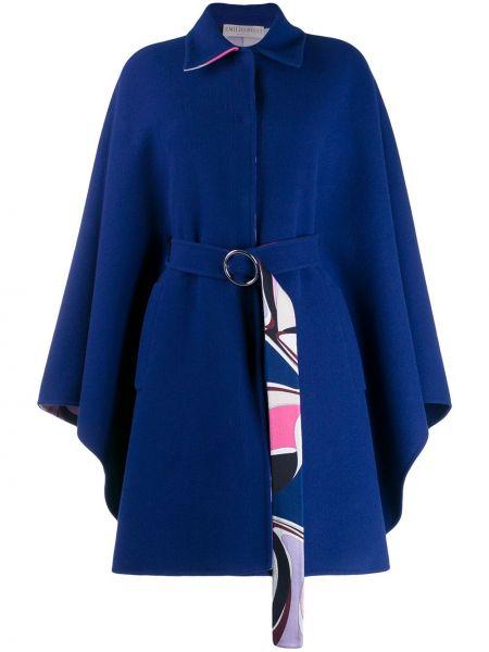 Шерстяное длинное пальто оверсайз с капюшоном Emilio Pucci