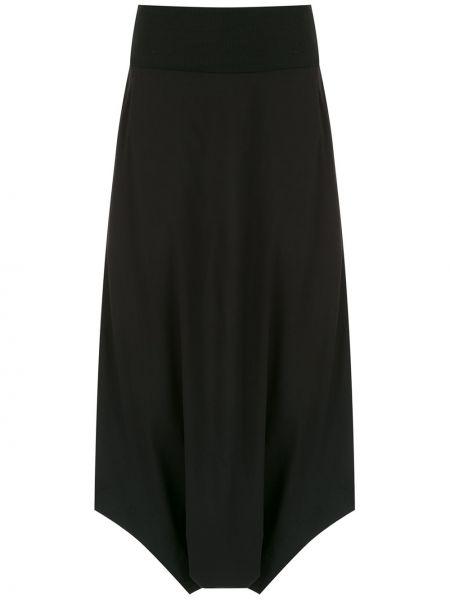 Черные брюки с заниженным шаговым швом с поясом на молнии Mara Mac