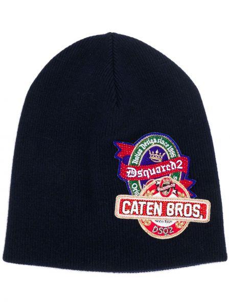 Trykotowy kapelusz z logo klasyczny Dsquared2