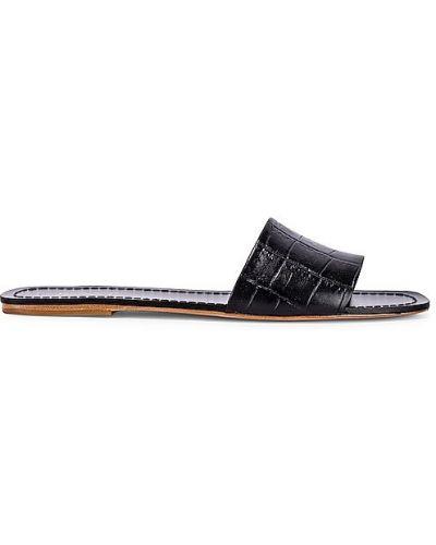 Czarne sandały skorzane Raye