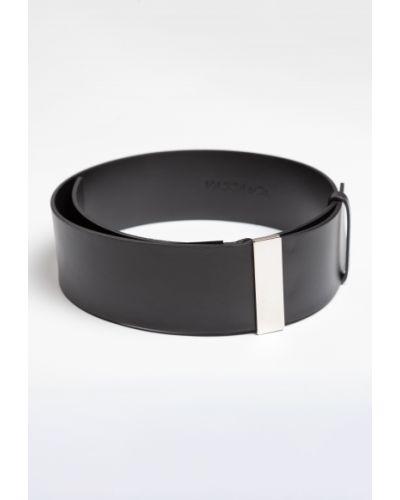 Широкий ремень металлический черный Vassa&co