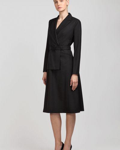Платье с поясом платье-пиджак из вискозы Vassa&co
