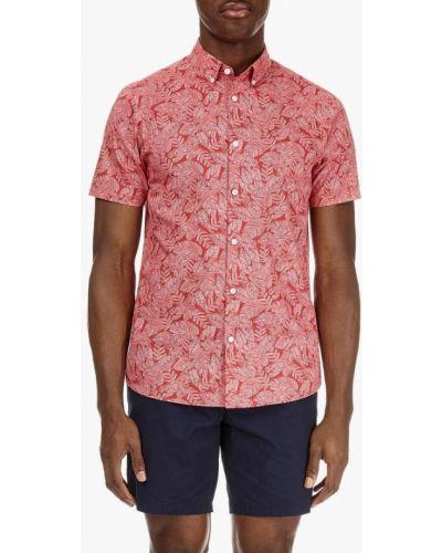 Красная рубашка с короткими рукавами Burton Menswear London