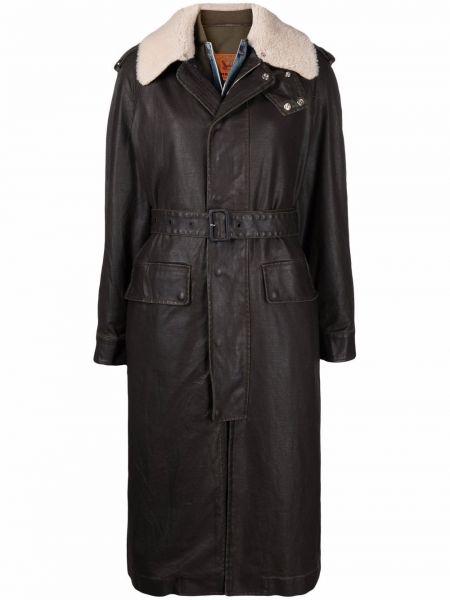 Пальто из овчины - черное Diesel