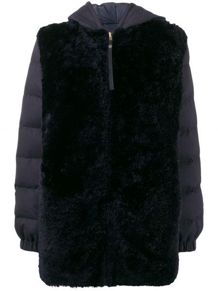 Пальто с капюшоном длинное стеганое Mr & Mrs Italy