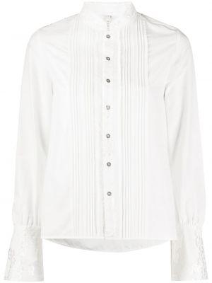 Белая нейлоновая рубашка с воротником на пуговицах Renli Su