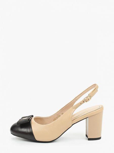 Кожаные туфли с открытой пяткой бежевый Pierre Cardin