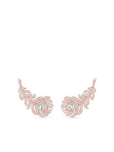 Różowe złote kolczyki sztyfty z diamentem Boucheron