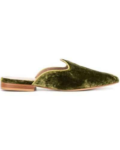 Мюли кожаные зеленый Le Monde Beryl