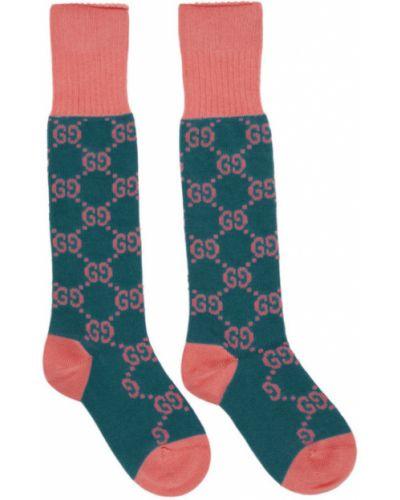 Bawełna bawełna różowy wysoki skarpety rozciągać Gucci
