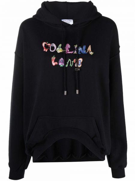 Bluza z nadrukiem z printem - czarna Collina Strada
